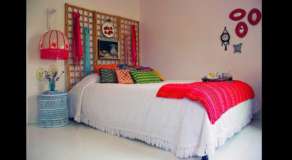 cabeceira de cama de biombo