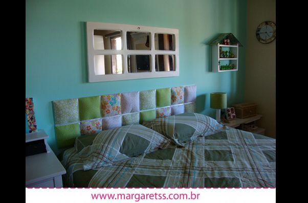 cabeceira de cama artesanal
