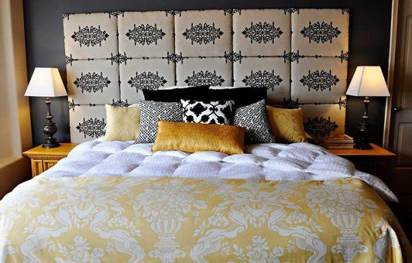 cabeceira de cama de placas de mdf