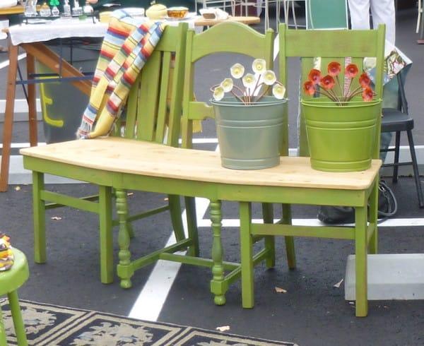 movel reciclado cadeiras