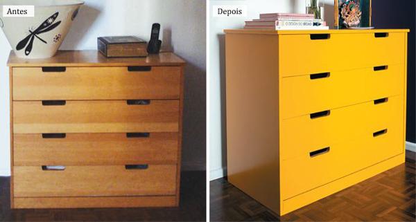 movel reciclado amarela