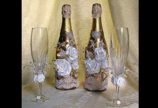 decoração de garrafa com rosas