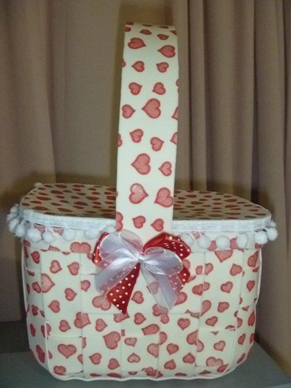 pote decorado de sorvete cesta