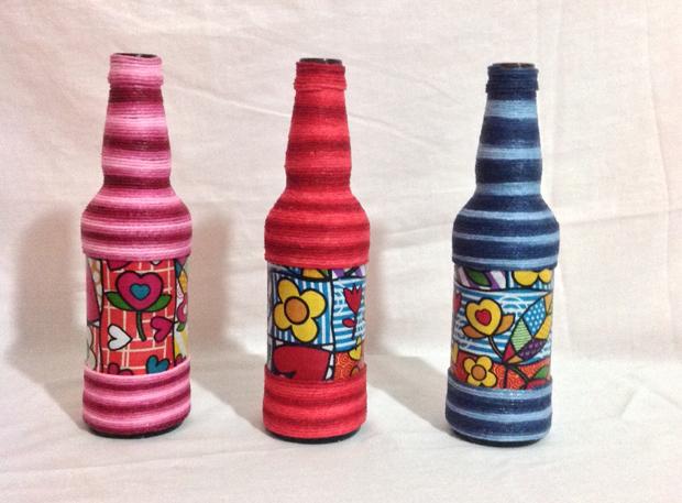 decoração de garrafa com gravura