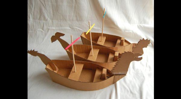 brinquedo com sucata barco