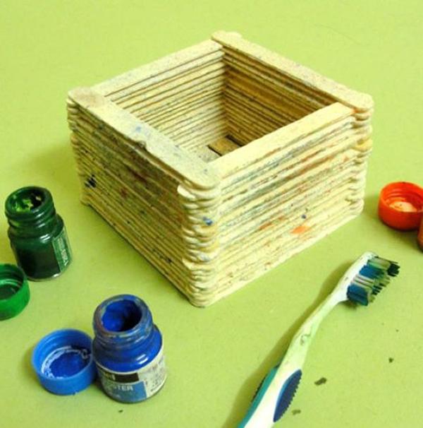 artesanato com palito de picolé tutorial