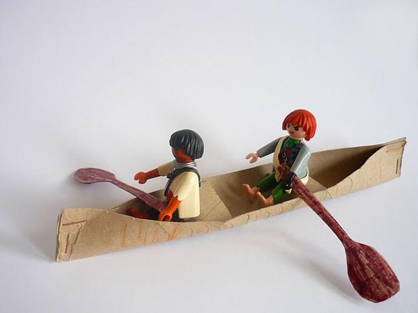 brinquedo com sucata canoa
