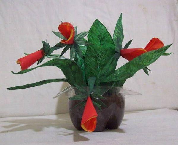 flor de pet em botao