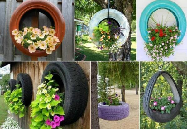 reciclagem de pneu vasos