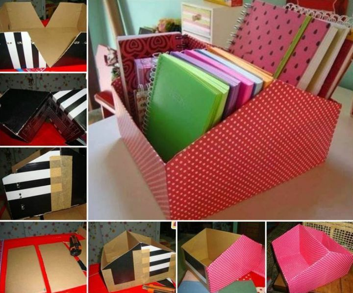 artesanato com papelão organizador