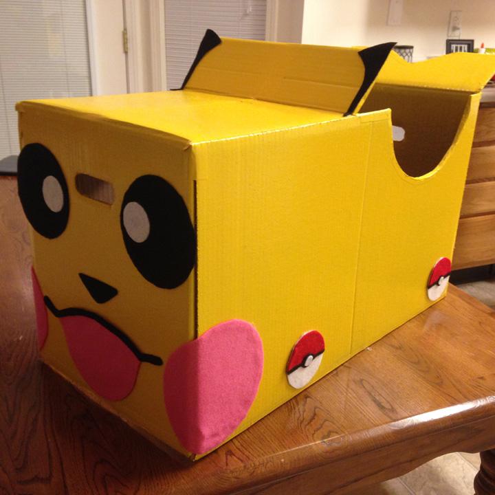 artesanato com papelão pokemon