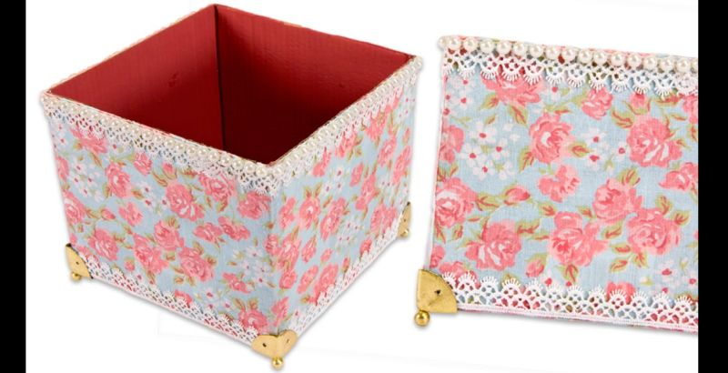 artesanato com papelão caixa