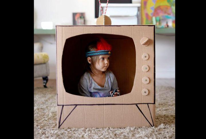 artesanato com papelão tv