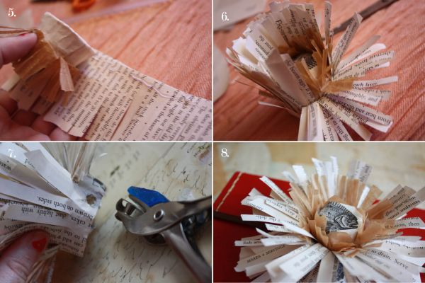 flor de papel folha de jornal