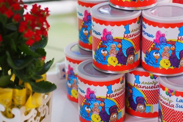 lata de leite ninho decorada galinha pintadinha