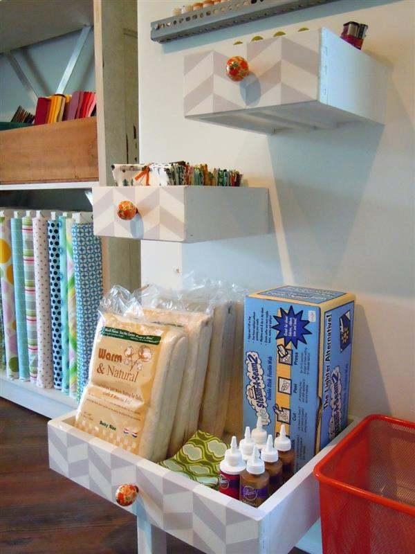 artesanato para casa feito de gavetas recicladas
