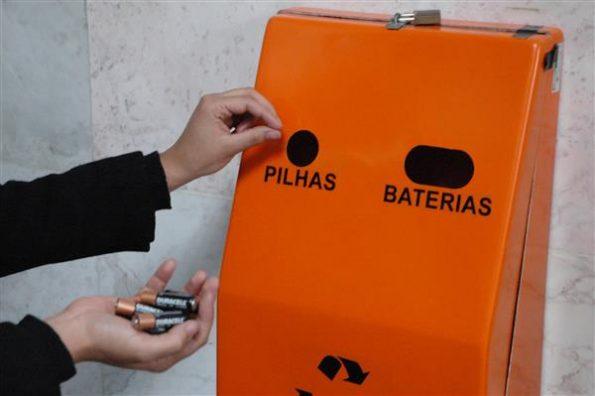descarte de pilhas e baterias