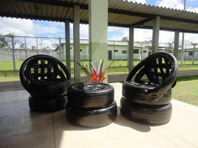 Adesivo Para Reposição Hormonal ~ Reciclagem no Meio Ambiente Reciclagem de pneus para artesanato