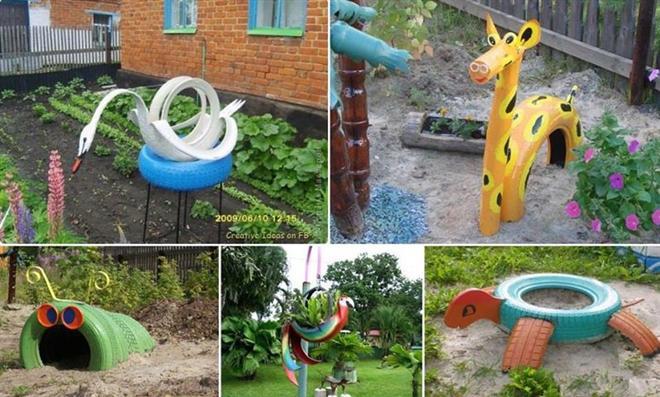 Reciclagem no meio ambiente o seu portal de artesanato com material reciclado reciclagem de - Deco jardin recyclage ...