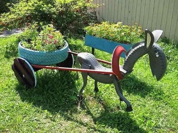 Artesanato Jardim Da Estrela ~ Reciclagem no Meio Ambiente pneus reciclados no jardim Reciclagem no Meio Ambiente
