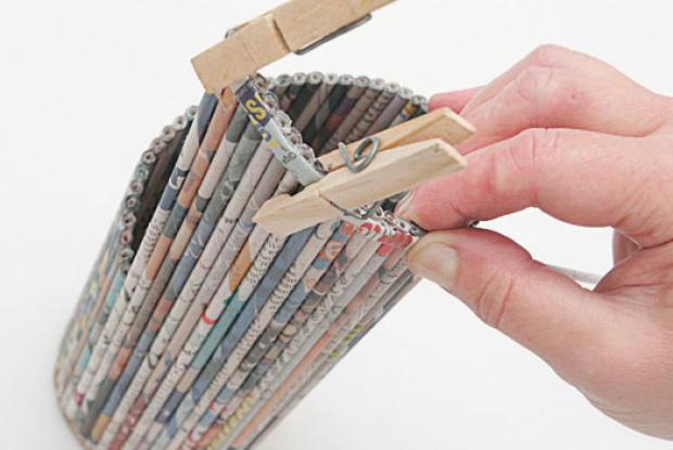 Armario Escobero Ikea ~ Reciclagem no Meio Ambiente Reciclagem de jornais e revistas passo a passo