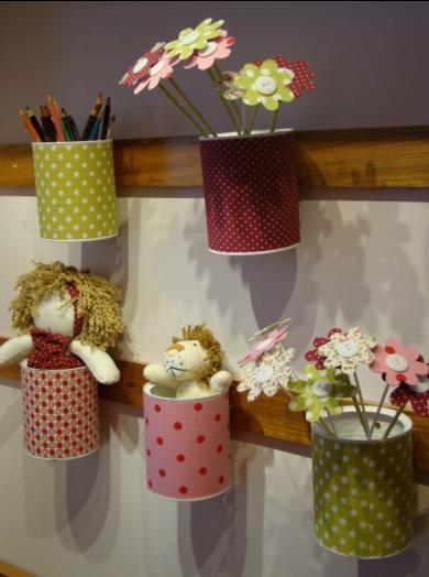 Reciclagem no meio ambiente como decorar um quarto de beb for Decoracion infantil barata