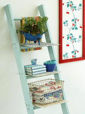Reciclagem no meio ambiente como decorar uma sala com for Repisa escalera