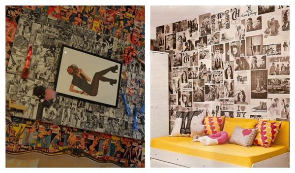 paredes decoradas com jornal