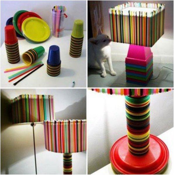 Reciclagem no meio ambiente objetos decorativos feitos com for Objetos decorativos para salon