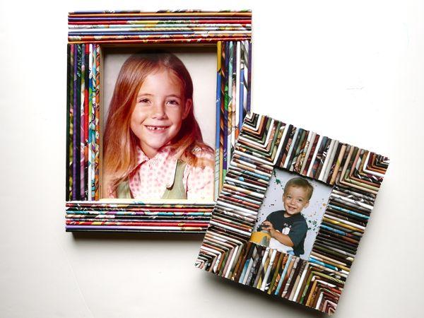 Reciclagem no meio ambiente como fazer porta retratos com - Idee per cornici ...
