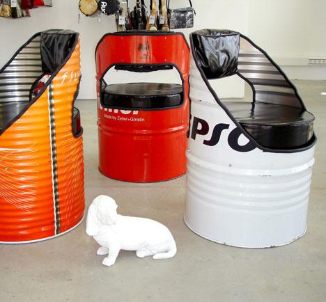 Reciclagem no meio ambiente o seu portal de artesanato com material reciclado m veis feitos - Vat stoel ...