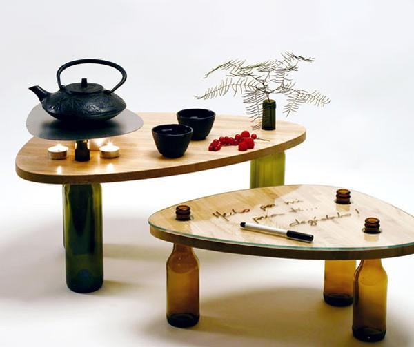 Reciclagem no meio ambiente como fazer mesa de centro com - Mesitas auxiliares originales ...