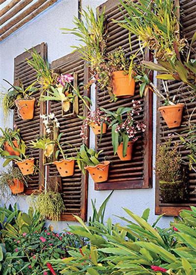 Reciclagem no meio ambiente o seu portal de artesanato - Idee deco mur exterieur ...