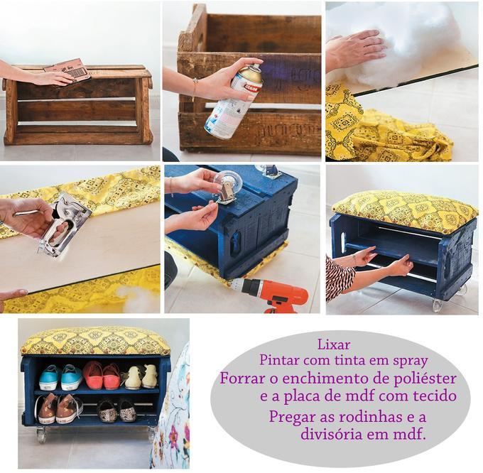 Como fazer uma sapateira passo a passo for Mueble zapatero artesanal