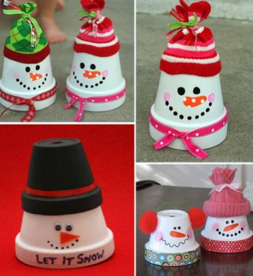 reciclagem no meio ambiente 12 ideias de bonecos de neve. Black Bedroom Furniture Sets. Home Design Ideas