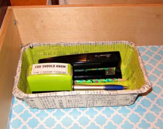 Esta reciclagem com embalagens de morango vai organizar os seus objetos e a sua vida (Foto: dollarstorecrafts.com)