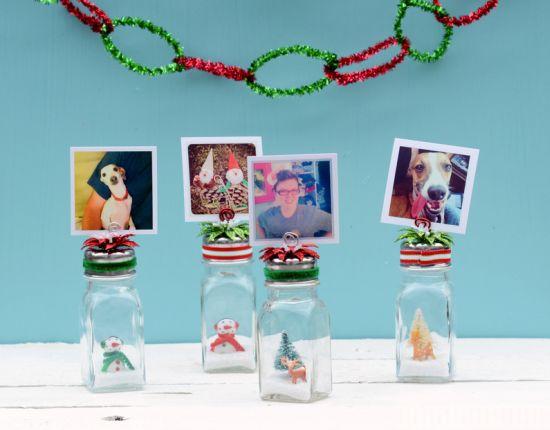 Este porta-retrato de Natal reciclado é lindo, é diferente e vai fazer o maior sucesso (Foto: mysocalledcraftylife.com)