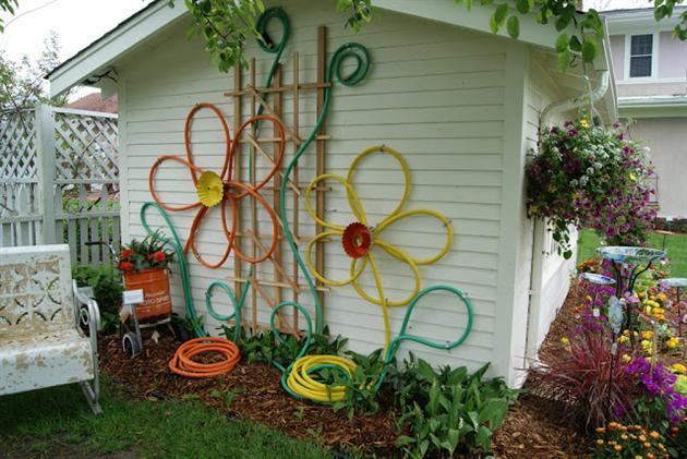 Reciclagem no meio ambiente 11 ideias para reaproveitar for Decorar paredes patio exterior