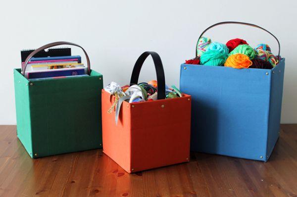 Caixas organizadoras de papelão decoradas são lindas, além de muito úteis (Foto: brit.co)