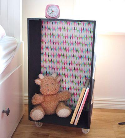 Se você está precisando de um minimóvel, você pode reaproveitar uma caixa de madeira (Foto: pysselbolaget.se)