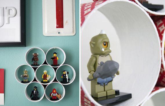 Seu ambiente ficará como novo com esta prateleira de tubos de papelão (Foto: pysselbolaget.se)