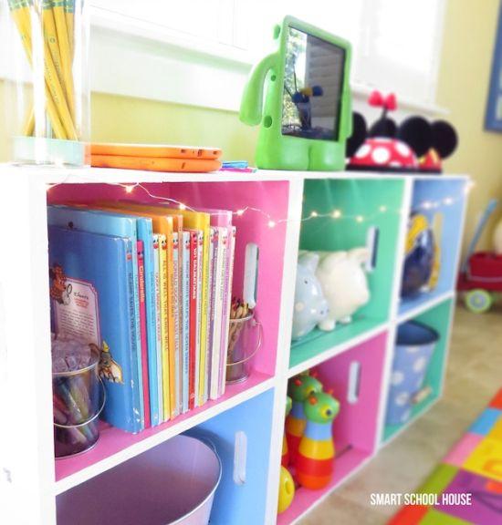 Decorar o quarto das crianças com caixotes de madeira é muito fácil (Foto: smartschoolhouse.com)