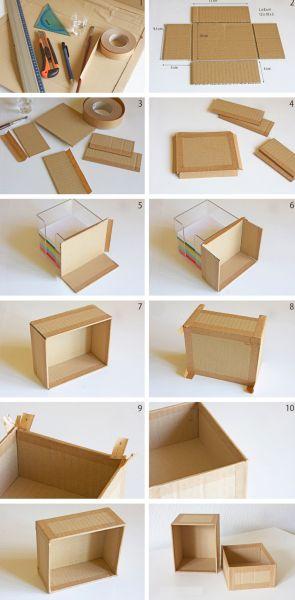 reciclagem no meio ambiente como fazer uma caixinha de papel o decorada. Black Bedroom Furniture Sets. Home Design Ideas