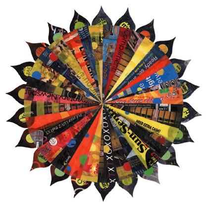 Solte a sua imaginação e criatividade para desenvolver as suas mandalas feitas com sacolas de plástico (Foto: recyclart.org)