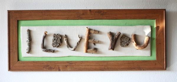 Quadro decorativo feito com galhos secos é lindo, é diferente, mas muito barato (Foto: trashycrafter.com)