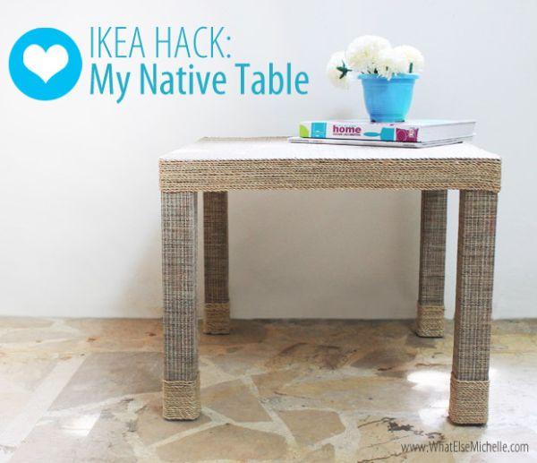 Recuperar uma mesa de madeira velha pode ser muito barato, se você usar a sua criatividade (Foto: whatelsemichelle.com)