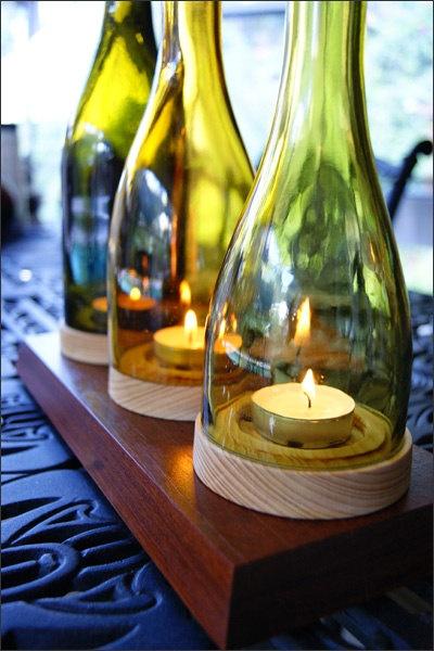 Decorações baratas para fazer com garrafas de vinho não faltam (Foto: homesthetics.net)