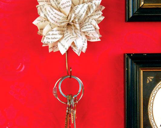 Porta-chaves de cabide velho é diferente e sustentável (Foto: www2.fiskars.com)