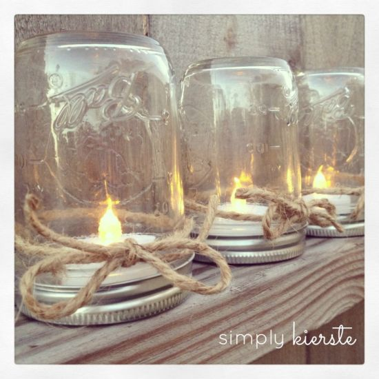 Lanterna de mesa artesanal é simples, barata, mas linda (Foto: simplykierste.com)