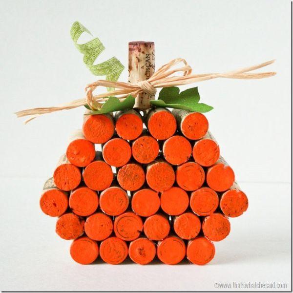 Abóbora de rolhas é linda e sustentável (Foto: alittletipsy.com)